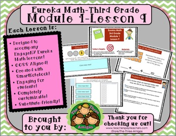 M1L09 Eureka Math-Third Grade: Module 1-Lesson 9 SmartBoard Lesson