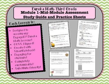 M1SG Eureka Math-Third Grade: Module 1 Mid-Module Assmt. Practice & Study Guide