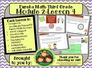 M2L04 Eureka Math-Third Grade: Module 2-Lesson 4 SmartBoard Lesson