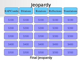 Eureka Math (Transformations) Grade 8 Module 3 Jeopardy Review
