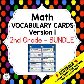 Eureka Math / Engage NY - Vocab 2nd Grade Bundle Modules 1-8:Common Core Aligned