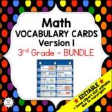 Eureka Math / Engage NY - Vocabulary 3rd Grade Bundle Modu