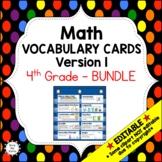 Eureka Math / Engage NY - Vocabulary 4th Grade Bundle Modules 1-7