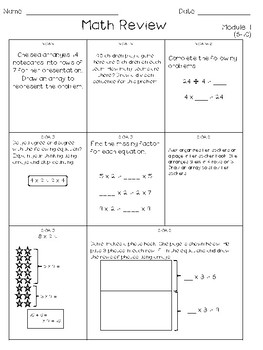 Eureka Math Weekly Review Practice (Modules 1-2)