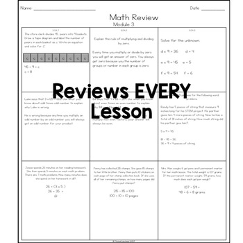 Eureka Math Weekly Review Practice (Modules 3-4)
