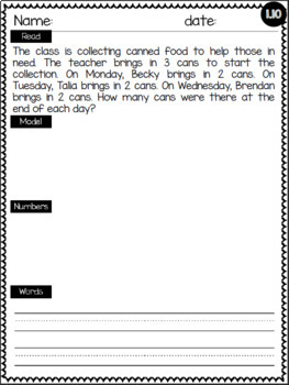 Eureka Math Word Problems Module 1