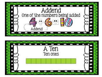 Eureka Math EngageNY Word Wall: Module 1