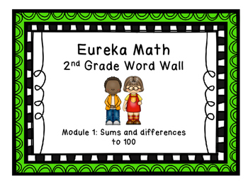Eureka Math EngageNY Word Wall: Module 1