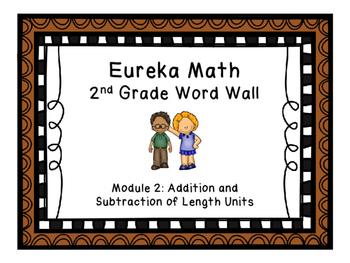 Eureka Math EngageNY 2nd Grade Word Wall: Module 2