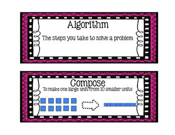 Eureka Math EngageNY 2nd Grade Word Wall: Module 4