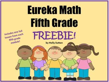 Eureka Math (aka Engage New York) Fifth Grade Lesson Freebies