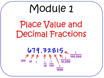 PPT Lessons for Eureka Math (Engage NY) Fifth Grade Module 1