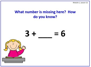 PPT Lessons for Eureka Math (Engage NY) First Grade Module 1 Lessons 1-24