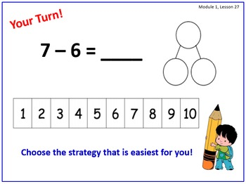 PPT Lessons for Eureka Math (Engage NY) First Grade Module 1 Lessons 25-39