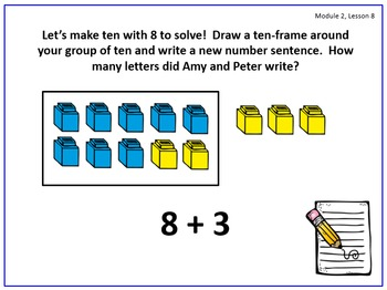 PPT Lessons for Eureka Math (Engage NY) First Grade Module 2 Lessons 1-11