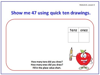 PPT Lessons for Eureka Math (Engage NY) First Grade Module 6 Lessons 1-19