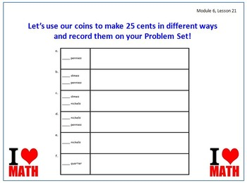 PPT Lessons for Eureka Math (Engage NY) First Grade Module 6 Lessons 20-27