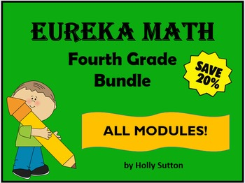 PPT Lessons for Eureka Math (Engage NY) Fourth Grade Bundle- ALL MODULES