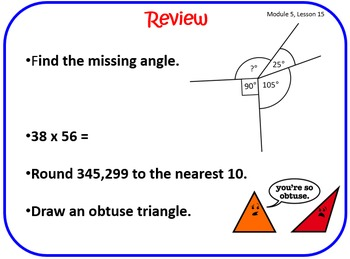 Eureka Math (aka Engage New York) Fourth Grade Sample Lesson Freebie