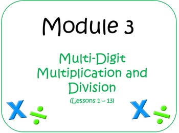 PPT Lessons for Eureka Math (Engage NY) Fourth Grade Module 3 Bundle