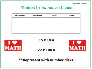 PPT Lessons for Eureka Math (Engage NY) Fourth Grade Module 3 Lessons 1-13