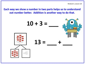 PPT Lessons for Eureka Math (Engage NY) Kindergarten Module 5 Lessons 15-24