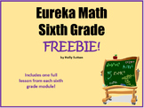Eureka Math (aka Engage New York) Sixth Grade Lesson Freebies