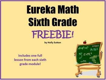 Eureka Math (aka Engage New York) Sixth Grade Lesson Freebies