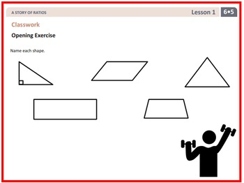PPT Lessons for Eureka Math (Engage NY) Sixth Grade Module 5 Lessons 1-10