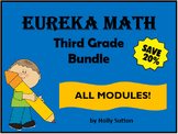 PPT Lessons for Eureka Math (Engage NY) Third Grade Bundle- ALL MODULES