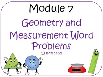 PPT Lessons for Eureka Math (Engage NY) Third Grade Module 7 Lessons 18-30