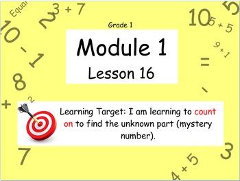 Eureka Math (or Engage New York) Module 1 Lesson 16