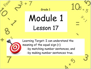 Eureka Math (or Engage New York) Module 1 Lesson 17