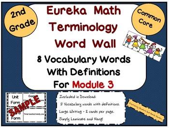 Eureka Math/Engage NY Module 3 Terminology Word Wall for 2