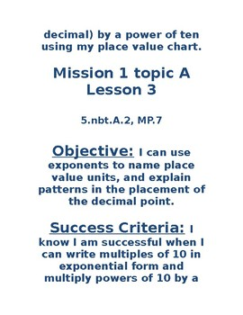 Eureka/ZEARN  Mission 1 Objectives and Success Criteria