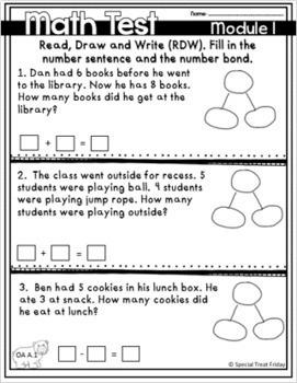 Eureka Module 1 Test 1st Grade FREE