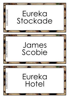 Eureka Stockade Word Wall Cards