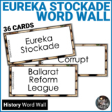 Eureka Stockade Word Wall Cards