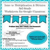 Distance Learning Engage NY Grade 3 Module 1 -  Problem Sets, Exit Tickets, & HW