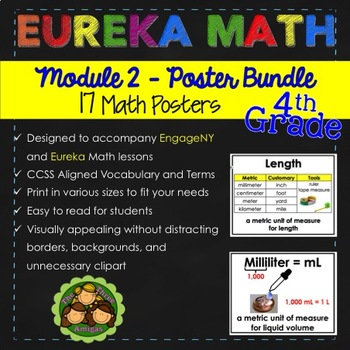 Eureka and Engage NY Math POSTERS - Fourth Grade (Module 2)