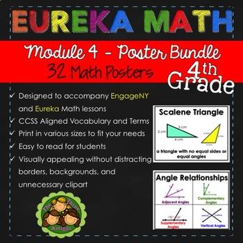 Eureka and Engage NY Math Posters - Fourth Grade (Module 4)