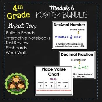 Eureka and Engage NY Math Posters - Fourth Grade (Module 6)