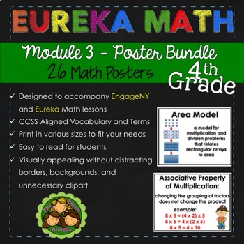 Eureka and EngageNY Math POSTERS - Fourth Grade (Module 3)