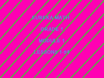 Eureka math MODULE 1 First grade