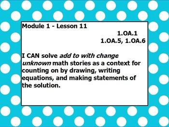Eureka math module 1 lesson 11 first grade