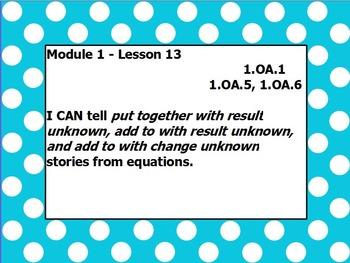 Eureka math module 1 lesson 13 first grade