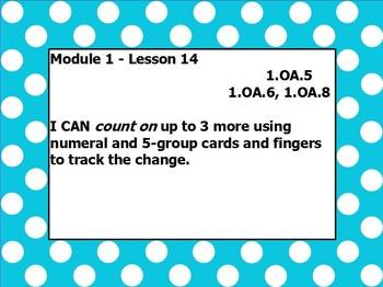 Eureka math module 1 lesson 14 first grade