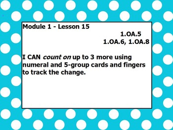 Eureka math module 1 lesson 15 first grade