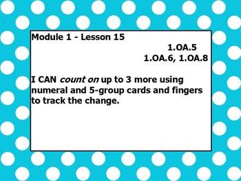 Eureka math module 1 lesson 15 first grade