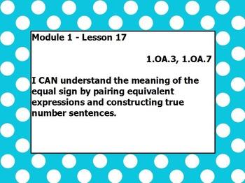 Eureka math module 1 lesson 17 first grade